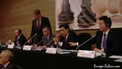 Суккот 5771 и 81-й Конгресс ФИДЕ (2010) GA_81_elections_presidium
