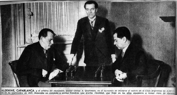 La Historia Oculta de Ajedrez Alekhine-capablanca-querencio-15_sep_1927